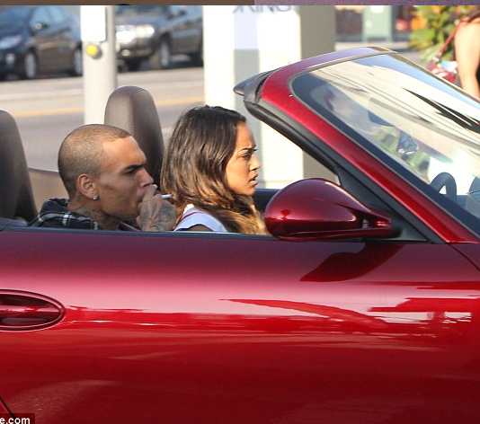 Ride Or Die Chick!! Chris Brown Lets Karrauche Ride His Porshe