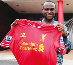 Moses Makes it To 1st Team On Liverpool squad