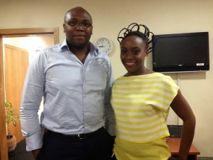 Jason Njoku and Chimimanda Ngozi Adeche