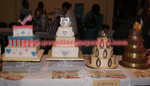 Some cakes from the table of honour