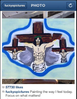 chris brown crucified