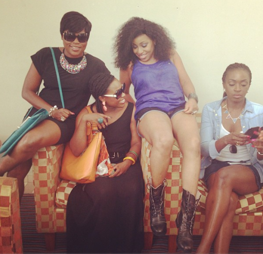 Rita Dominic and Kate Henshaw rock out in shorts