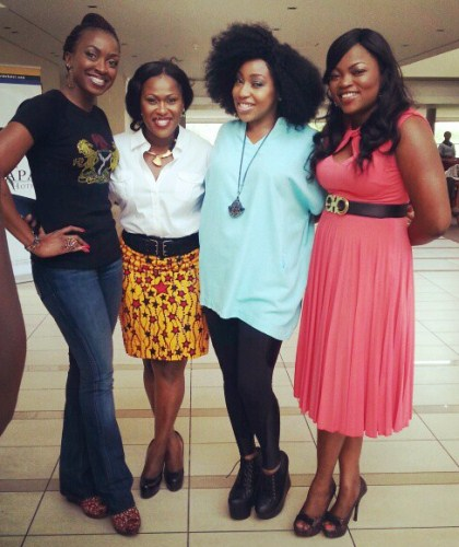 Rita Dominic, Uche Jombo, Kate Henshaw & Funke Akindele O in Tinapa for short film