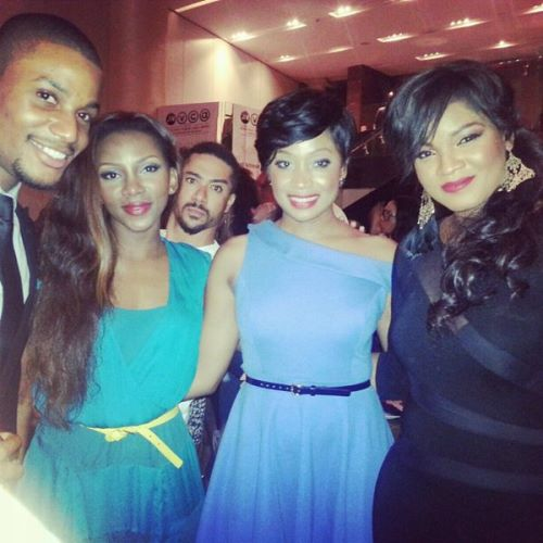 Genevieve, Omotola at AMVCA pre-award cocktail party peculiarmagazine