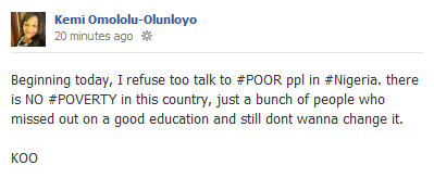 There's no poverty in Nigeria