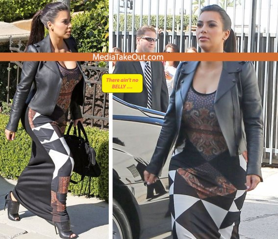 According to MTO, Kim K is faking her pregnancy! Lol