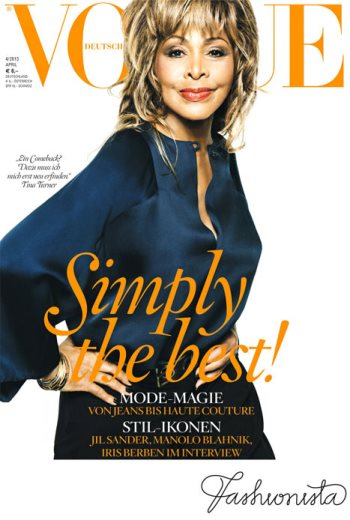 Tina Turner becomes the oldest person to ever grace the cover of Vogue magazine at 73  peculiarmagazine